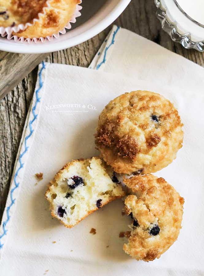 Skinny Blueberry Muffins recipe