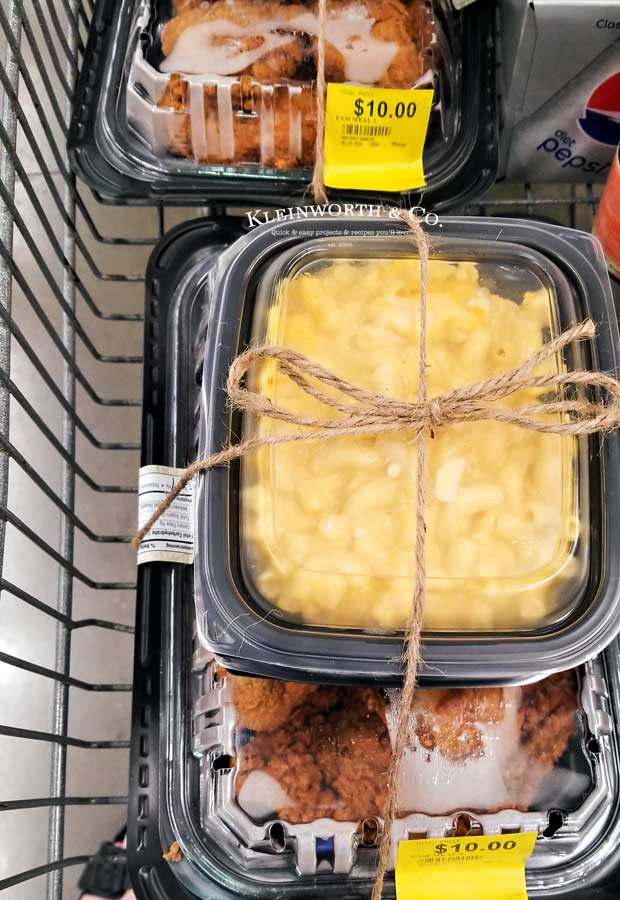 Walmart Chicken Meals in Cart