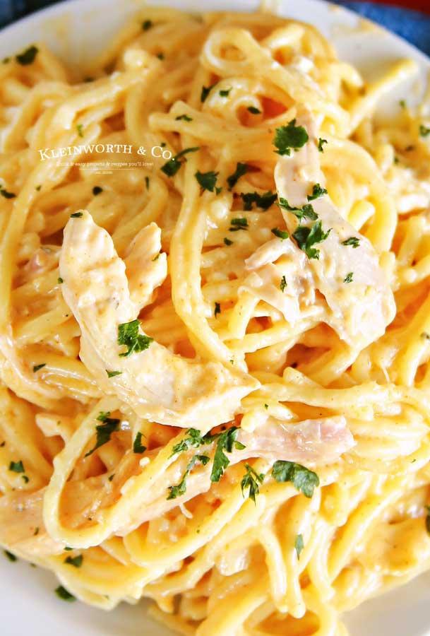 Cheesy Chicken Spaghetti Instant Pot Dinner Recipe