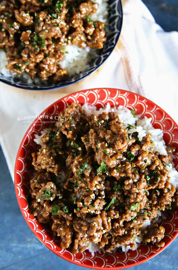 ground beef - Korean Beef