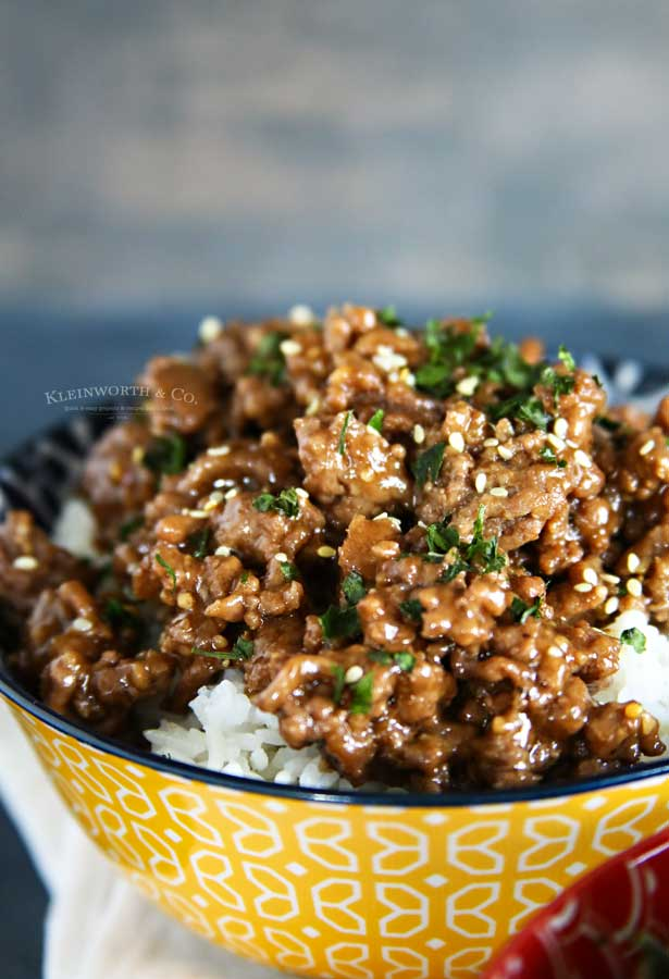 Korean Ground Beef with rice