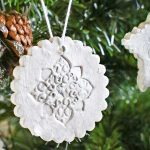 Stamped Clay Ornaments w/ Homemade Clay Recipe