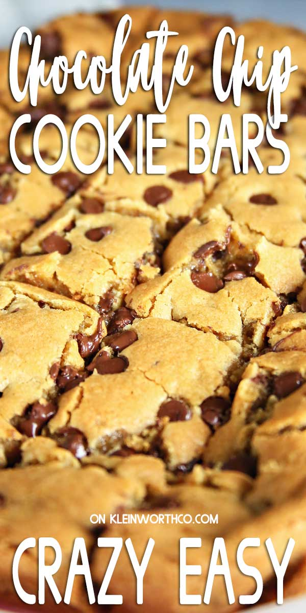 Chocolate Chip Cookie Bars Treat Recipe