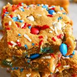 Holiday treats - Patriotic M&M's Cookie Bars
