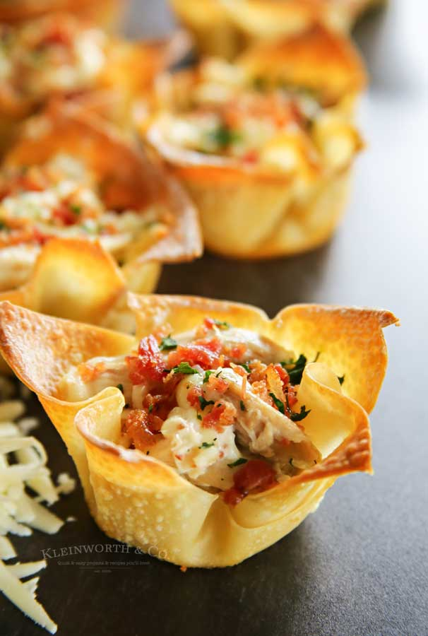Appetizer Recipe - Chicken Bacon Ranch Wontons
