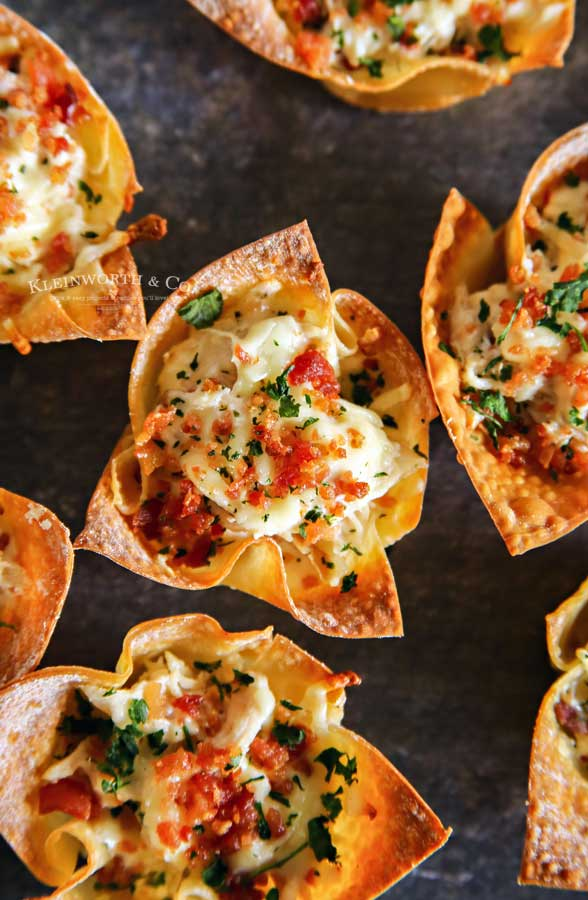 Chicken Ranch Wonton Cups