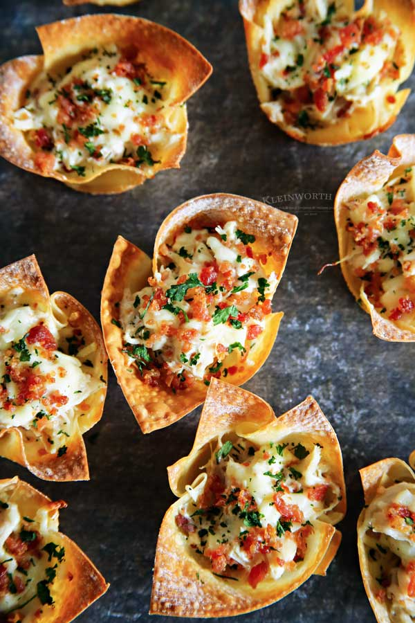 How to make Chicken Bacon Ranch Wonton Cups