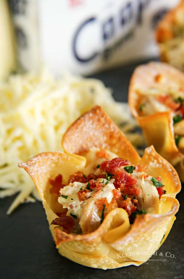 Party Snack - Chicken Bacon Ranch Wonton Cups