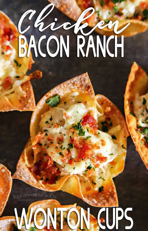 Chicken Bacon Ranch Wonton Cups