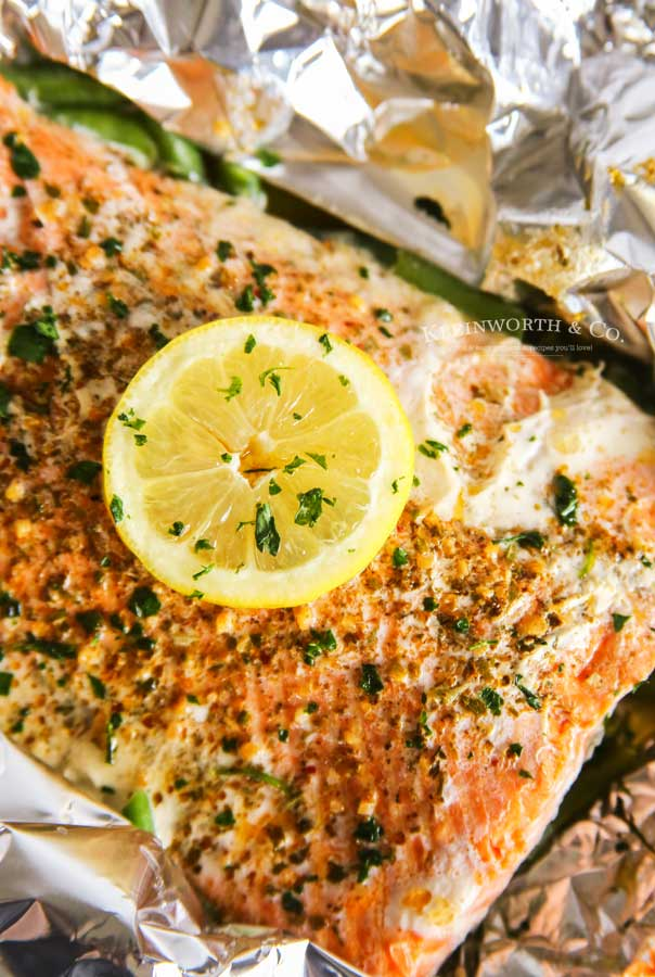 Grilled Garlic Butter Salmon