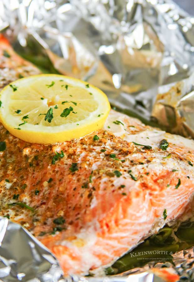 Foil Packet Garlic Butter Salmon