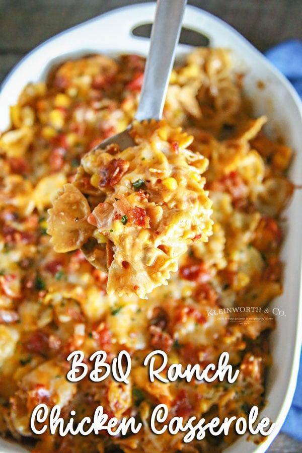 BBQ Ranch Chicken Casserole
