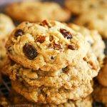 Oatmeal Raisin Cookies with walnuts