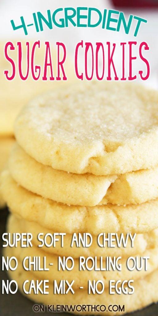 4-Ingredient Sugar Cookies