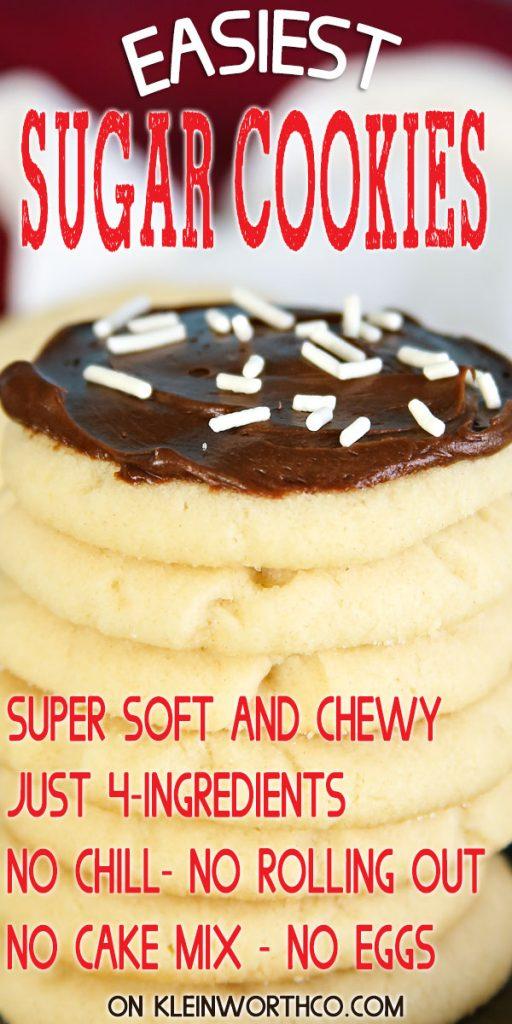 Easiest Sugar Cookies with 4 ingredients