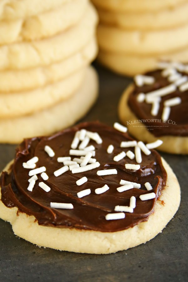 chocolate frosted sugar cookies