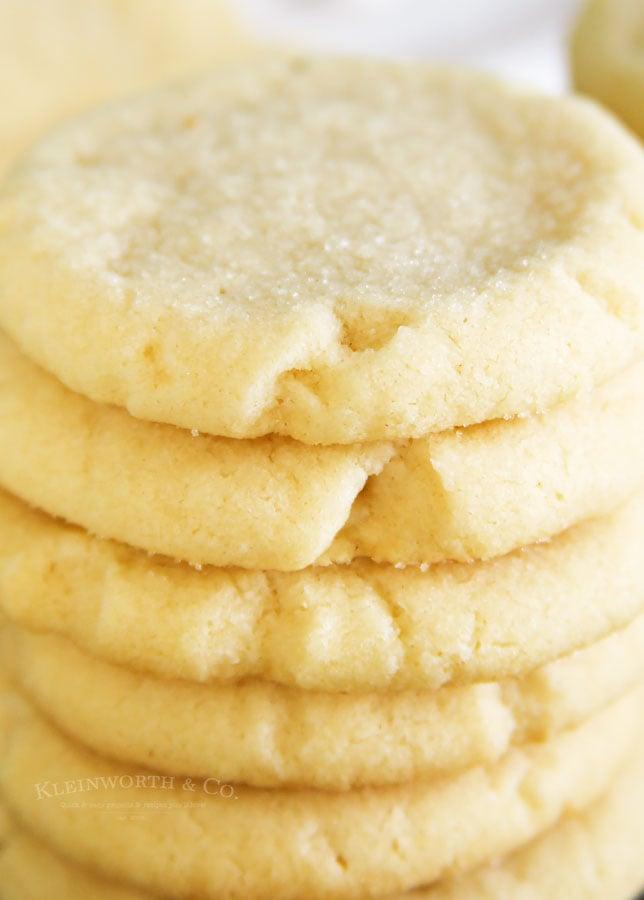 no egg sugar cookies