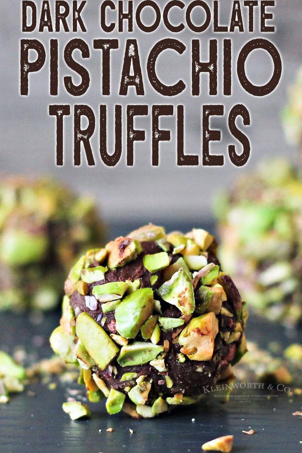 Dark Chocolate Pistachio Truffles