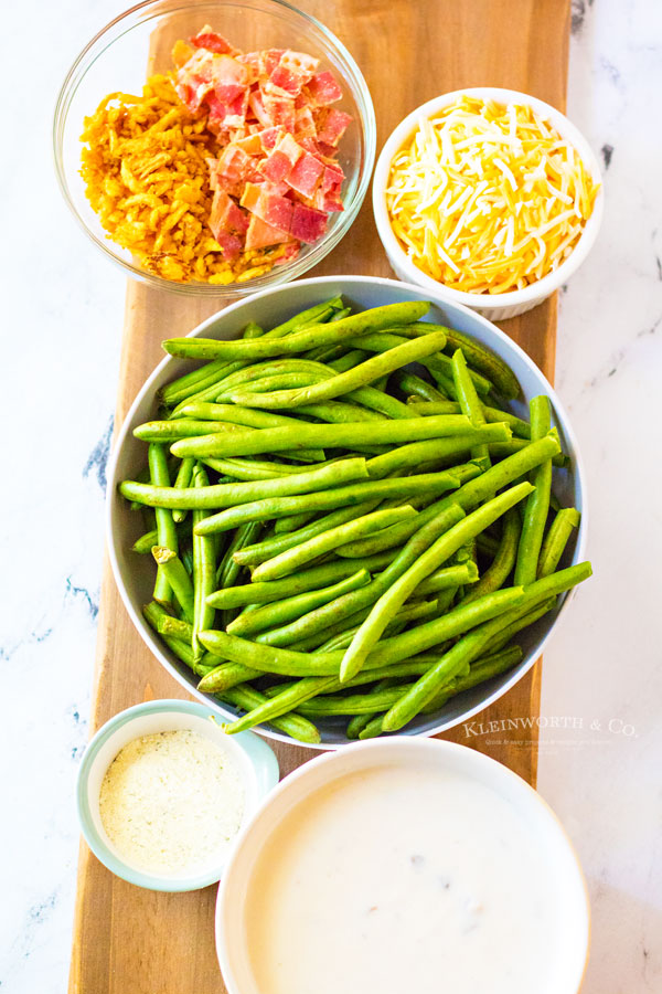 ingredients to make Loaded Green Bean Casserole