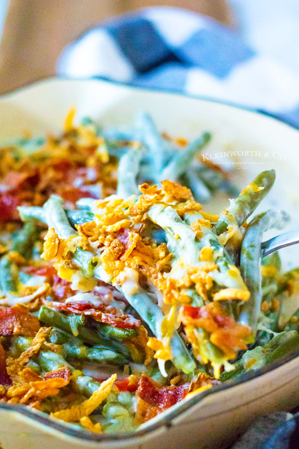 Recipe for Loaded Green Bean Casserole