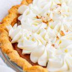pumpkin pie sprinkled with pecans