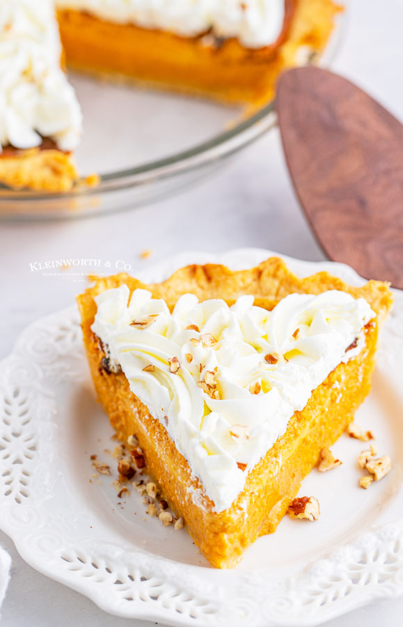 pipped whipped cream on pie