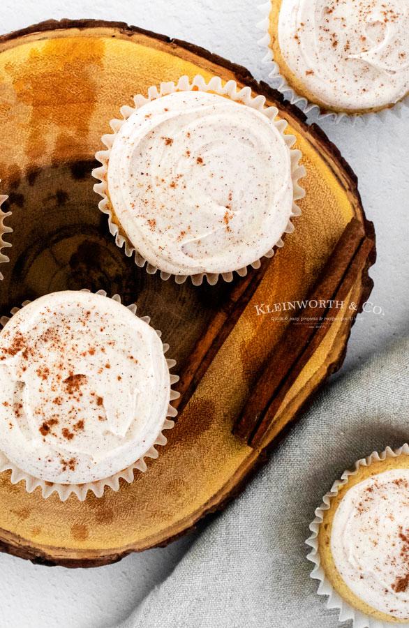 Fall Cupcakes Cinnamon Vanilla Bean
