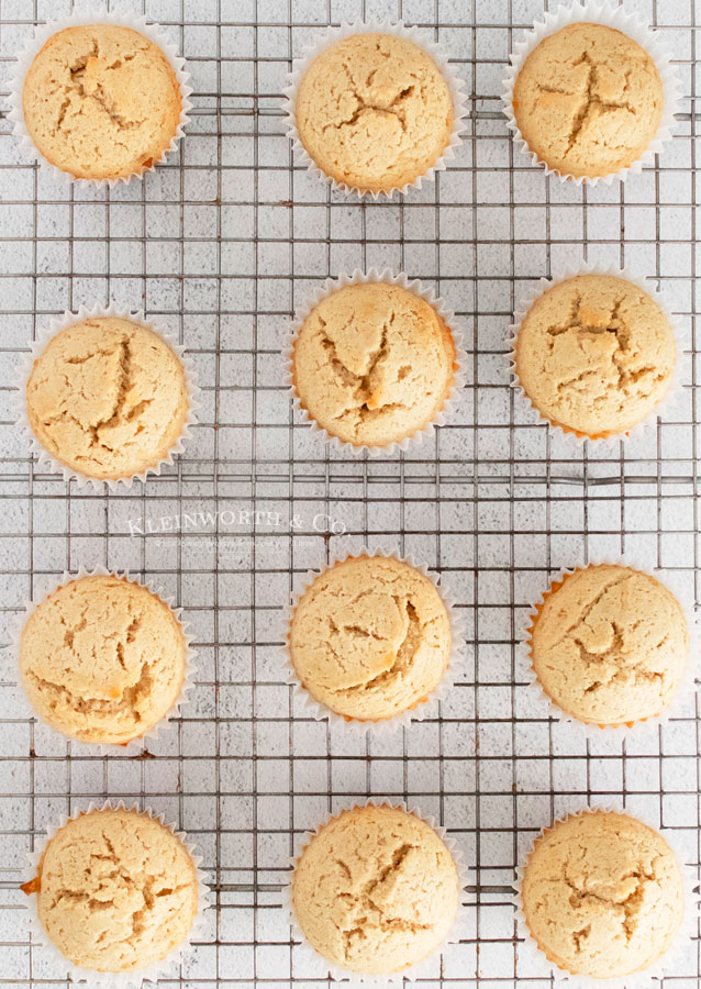 Cupcakes before frosting -Cinnamon Vanilla Bean