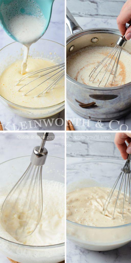 steps for cooking homemade eggnog