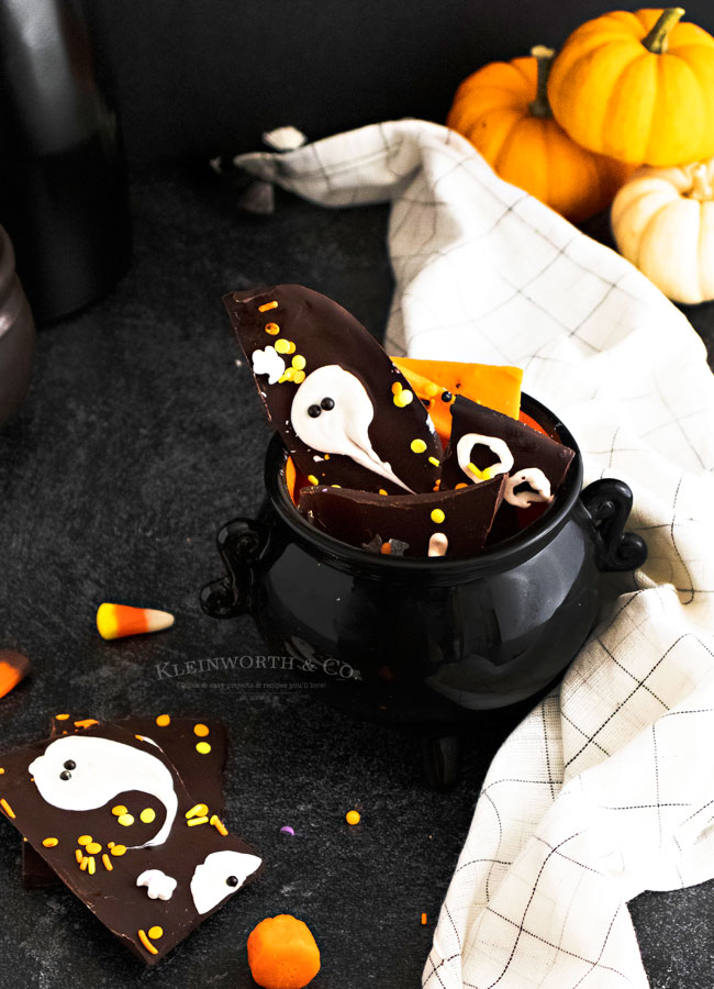 Chocolate Bark Recipe Ghost