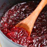 Pureed cranberry sauce