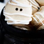 Mummy French Macarons with Maple Cinnamon Filling
