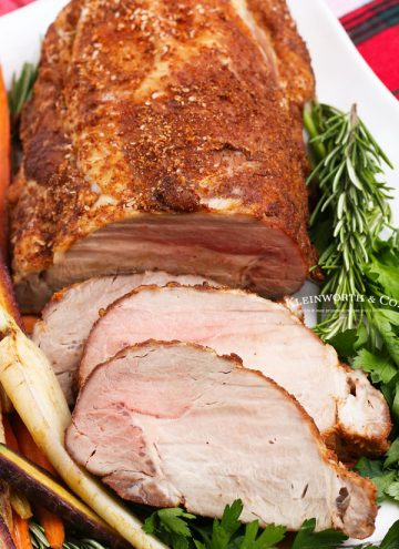 sliced pork roast