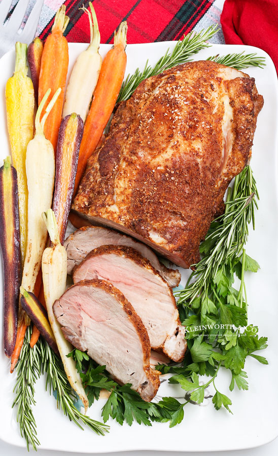 weeknight dinner - pork roast