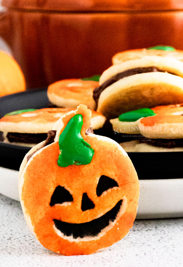 Halloween Cookies Pumpkin Shortbread