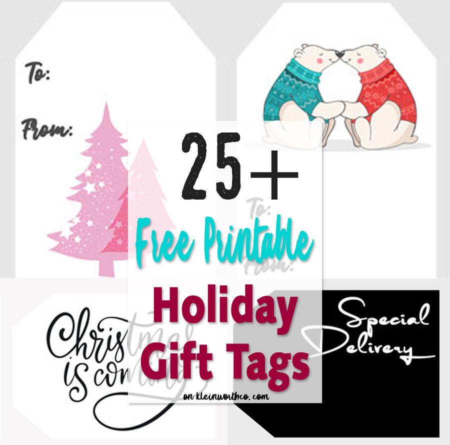 HUGE collection of FREE Christmas Gift Tags Printables
