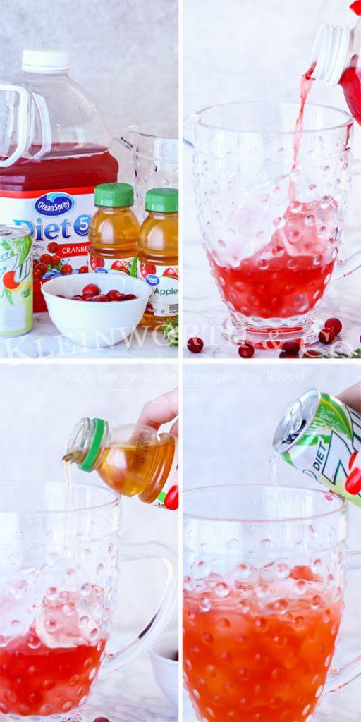 ingredients for Apple Cranberry Spritzer