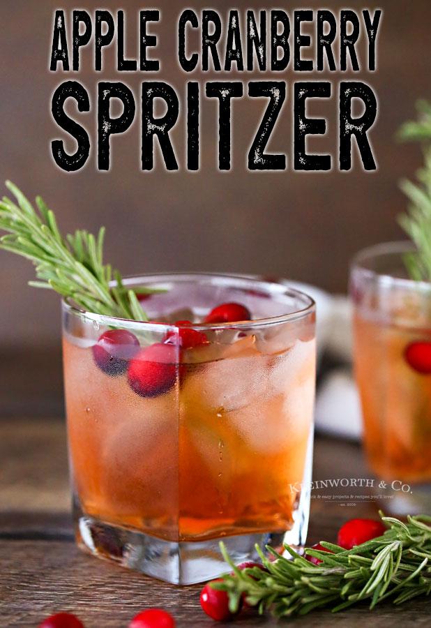 Apple Cranberry Spritzer