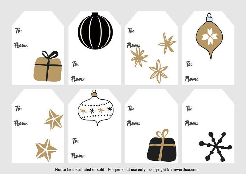Black and Gold Hand Drawn tags