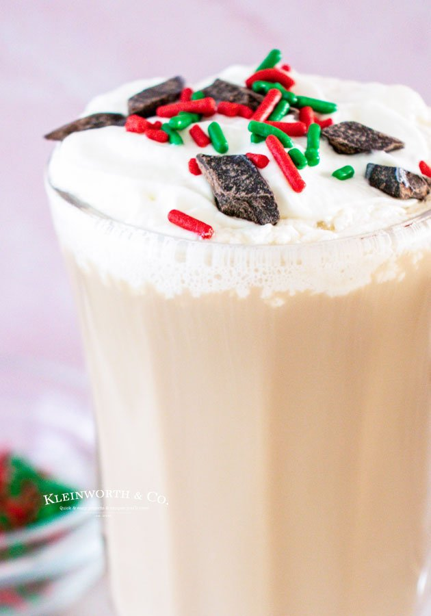 Adult Holiday Drink with Sprinkles