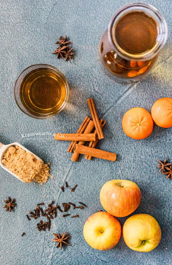 Zutaten für Bourbon Apple Cider