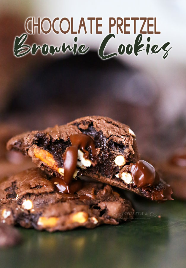 Soft & Chewy Chocolate Pretzel Brownie Cookies