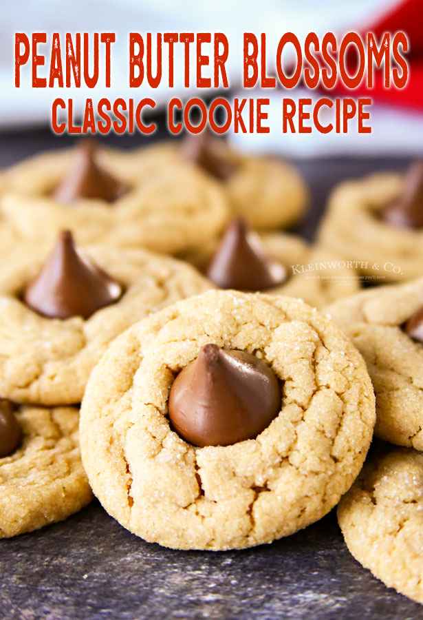 Classic Peanut Butter Blossom Cookies