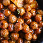 20 minute stovetop cranberry turkey meatballs