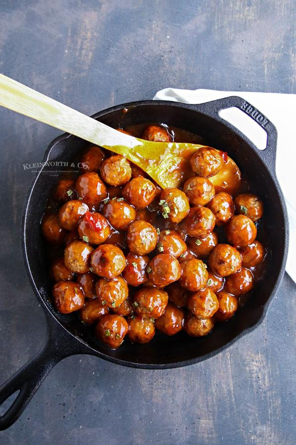 Cranberry BBQ Meatballs recipe