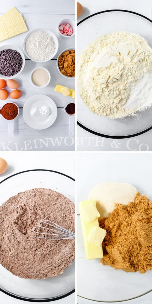ingredients and instructions for Double Chocolate Cookies