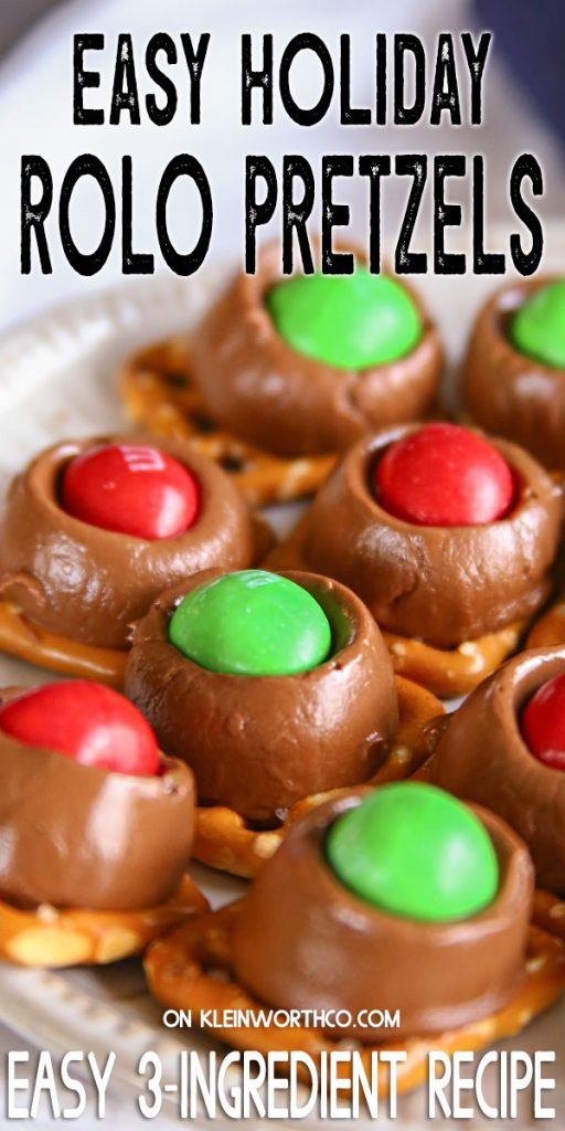Easy Holiday Rolo Pretzels