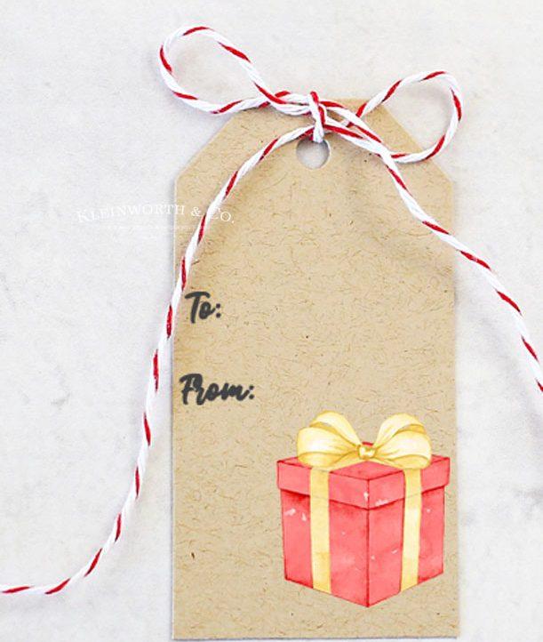 vert - free printable - gift tags