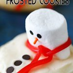 Melting Snowman Frosted Cookies