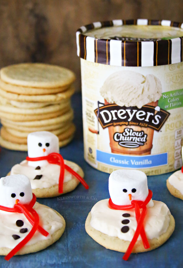 Dessert - Melted Snowman Cookies
